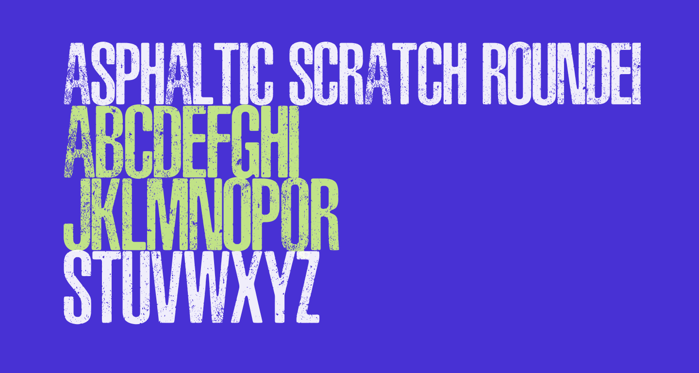 ASPHALTIC SCRATCH ROUNDED PERSONAL USE