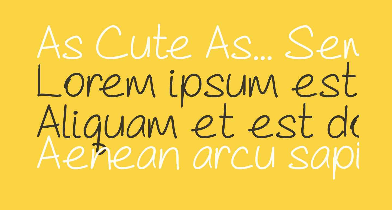 As Cute As... Semibold