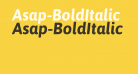 Asap-BoldItalic