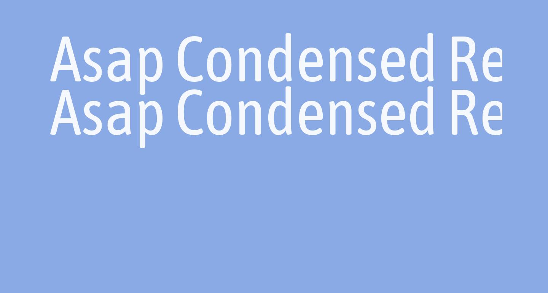 Asap Condensed Regular
