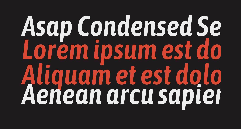 Asap Condensed SemiBold Italic