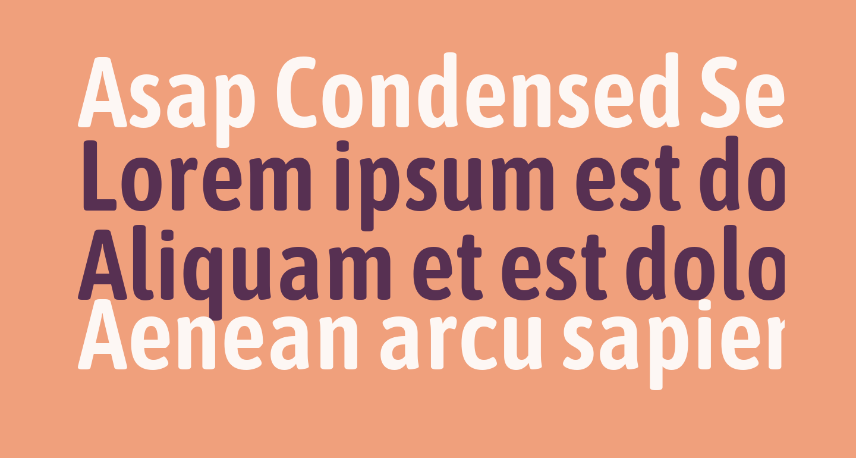 Asap Condensed SemiBold