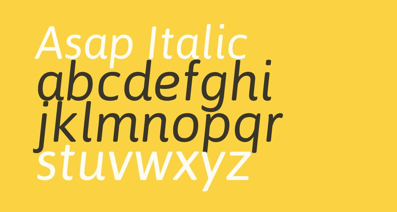Asap Italic