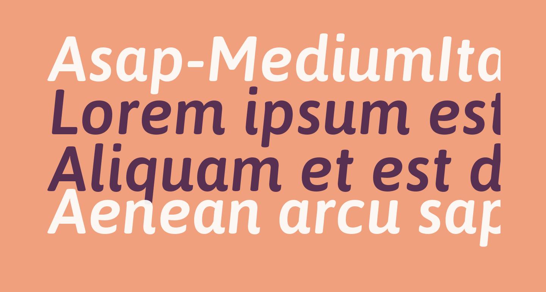 Asap-MediumItalic