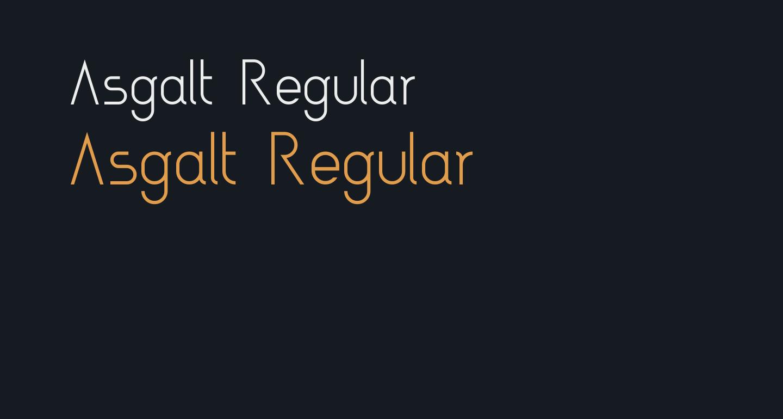 Asgalt Regular