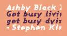 Ashby Black Italic
