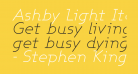 Ashby Light Italic