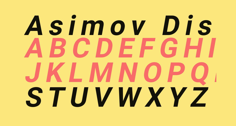 Asimov Distant Italic