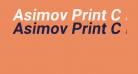 Asimov Print C Italic