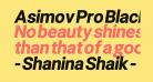 Asimov Pro Black Oblique