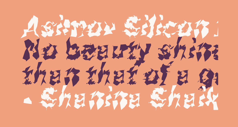 Asimov Silicon Italic