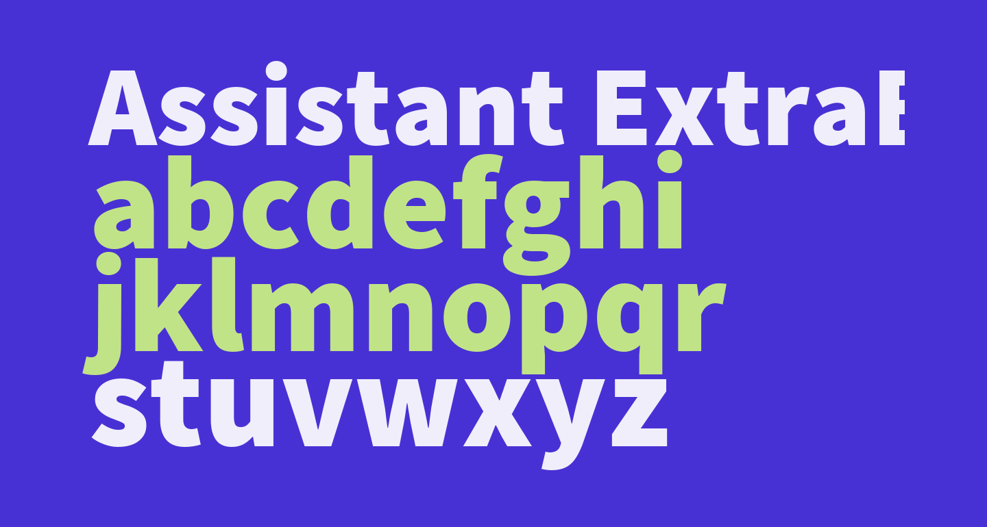 Assistant ExtraBold