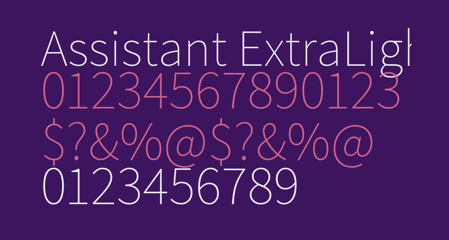 Assistant ExtraLight