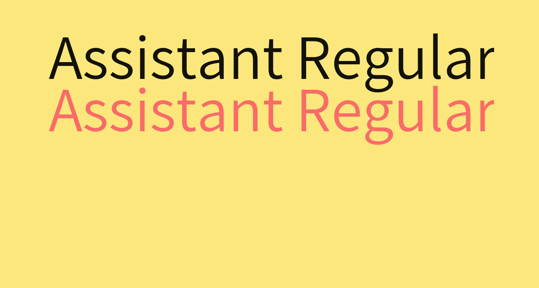 Assistant Regular