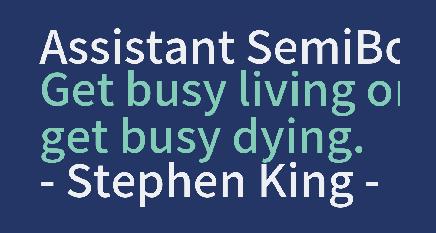 Assistant SemiBold