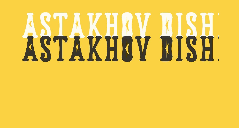 Astakhov Dished  FS Serif