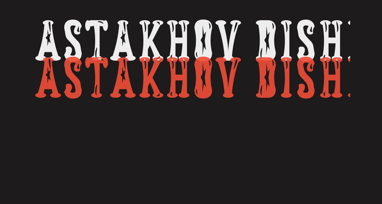 Astakhov Dished Gl FS Serif
