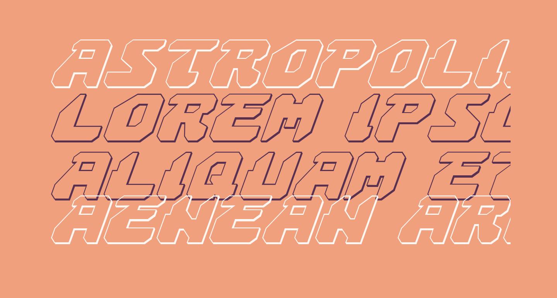 Astropolis 3D Italic