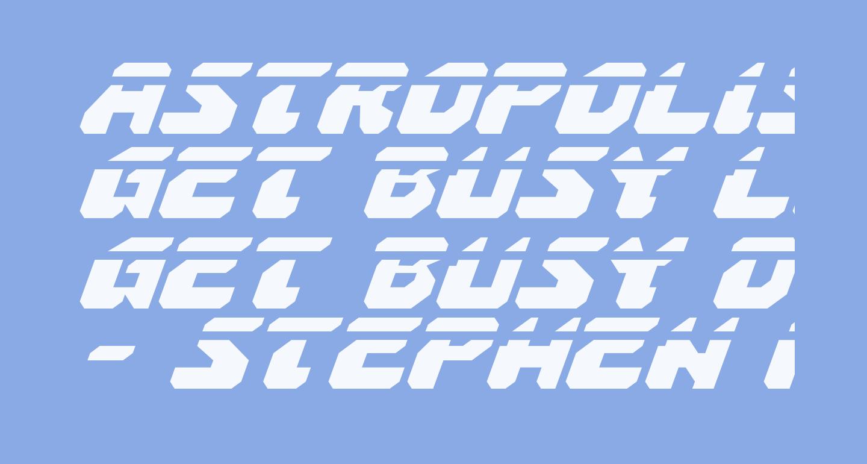 Astropolis Laser Italic
