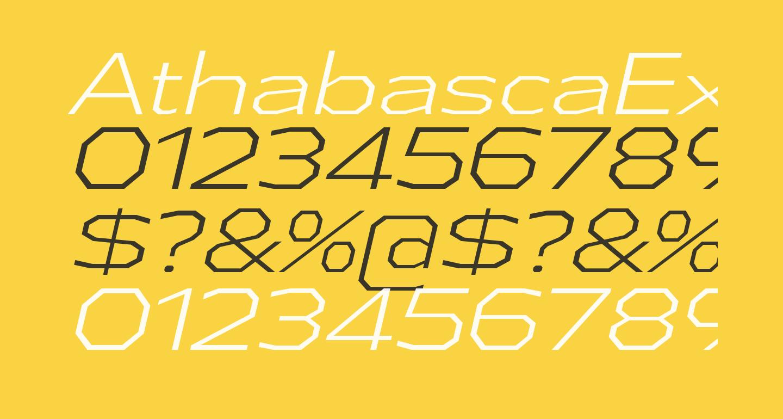 AthabascaExLt-Italic