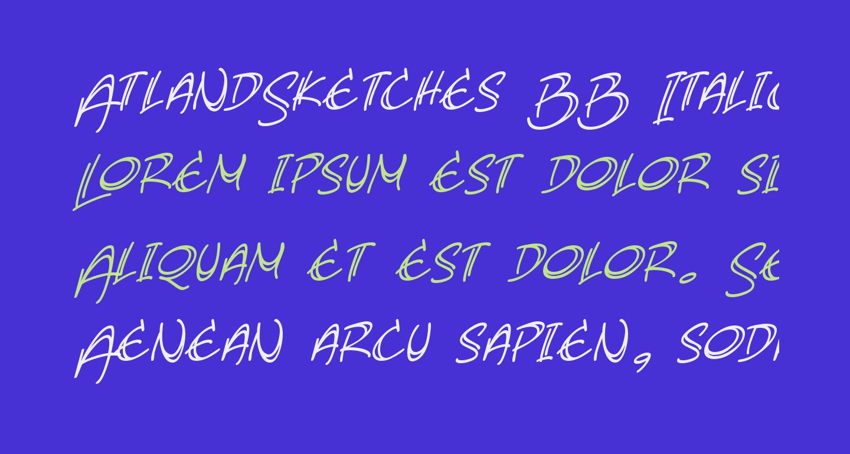 AtlandSketches BB Italic