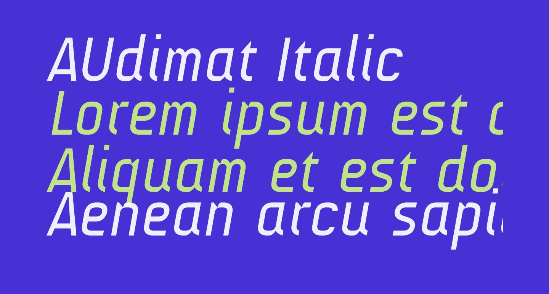 AUdimat Italic