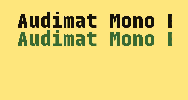 Audimat Mono Bold