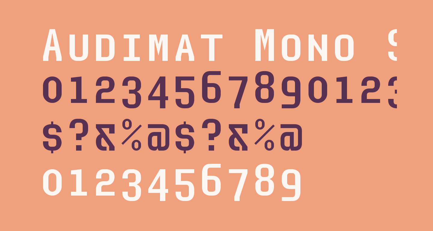 Audimat Mono SmallCaps
