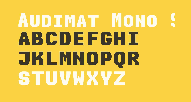 Audimat Mono SmallCapsBold