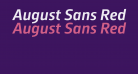 August Sans Reduced 66 Medium Italic