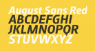 August Sans Reduced 76 Bold Italic