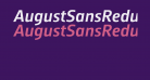 AugustSansReduced-MediumItalic
