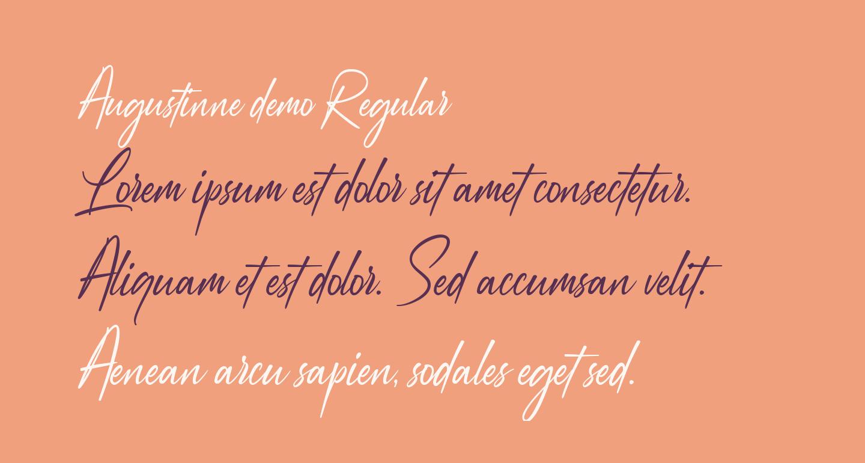 Augustinne demo Regular