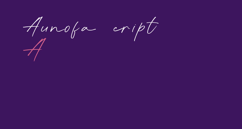 Aunofa Script DEMO Regular