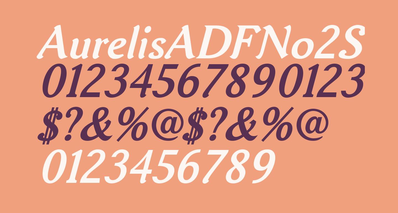 AurelisADFNo2Std-BoldItalic