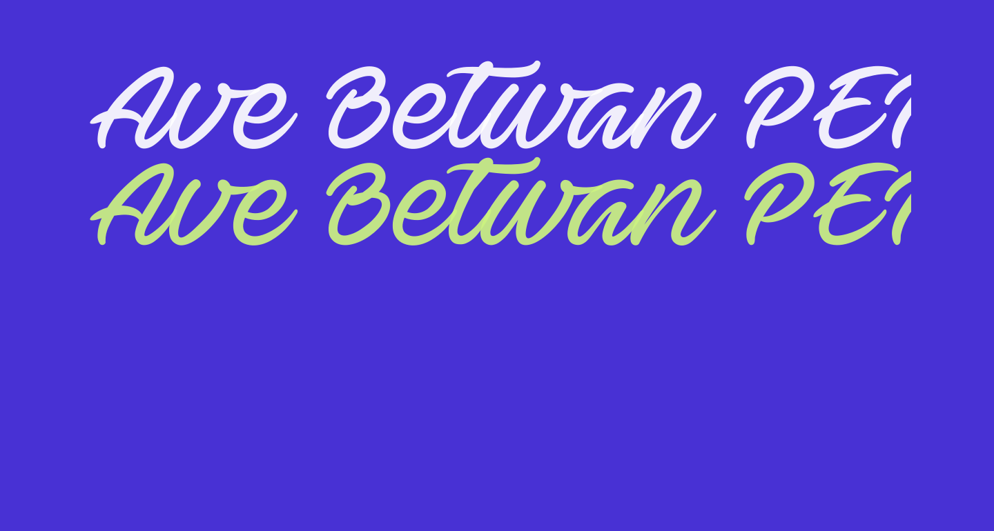 Ave Betwan PERSONAL USE ONLY