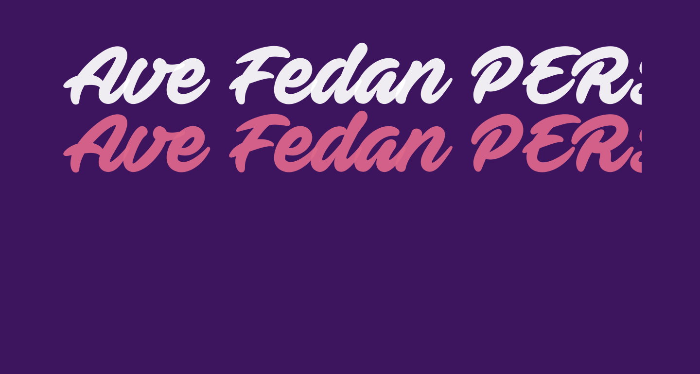 Ave Fedan PERSONAL USE ONLY