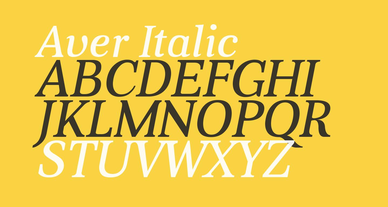 Aver Italic
