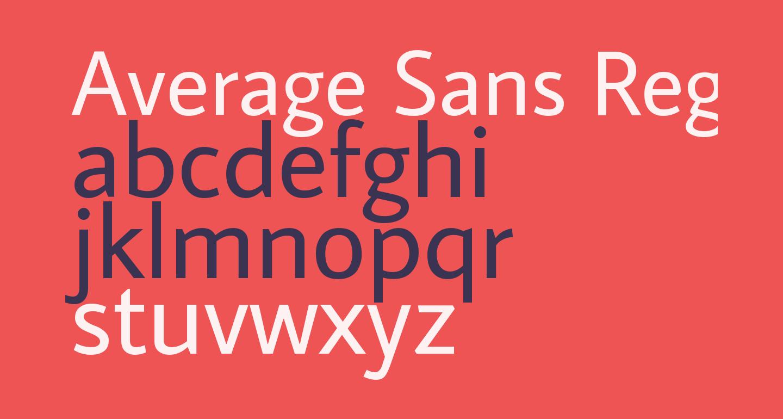 Average Sans Regular