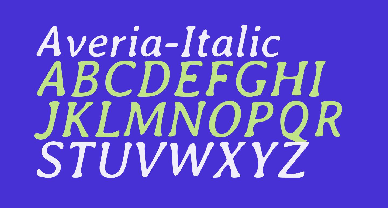 Averia-Italic
