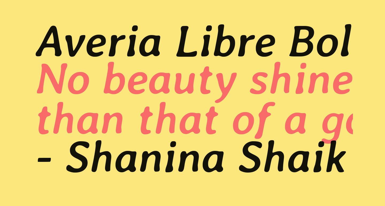 Averia Libre Bold Italic