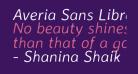 Averia Sans Libre Light Italic