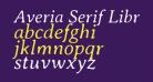 Averia Serif Libre Light Italic