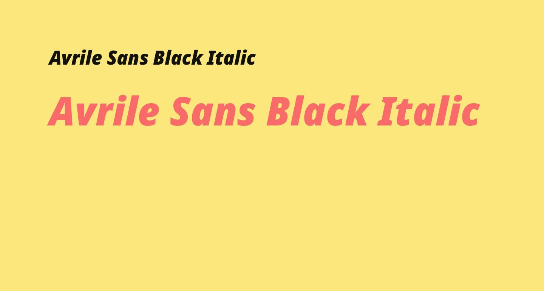 Avrile Sans Black Italic