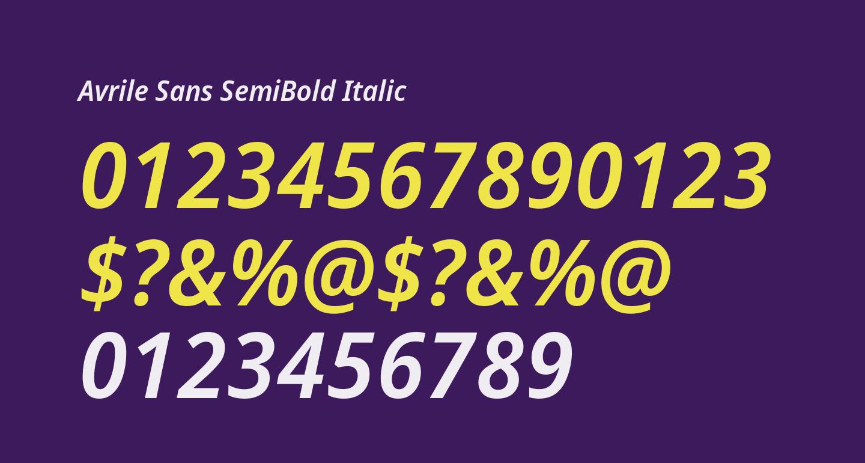 Avrile Sans SemiBold Italic