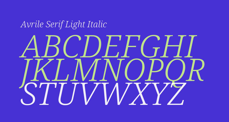 Avrile Serif Light Italic