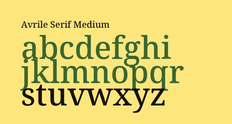Avrile Serif Medium