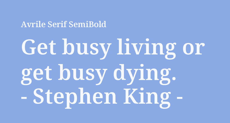 Avrile Serif SemiBold