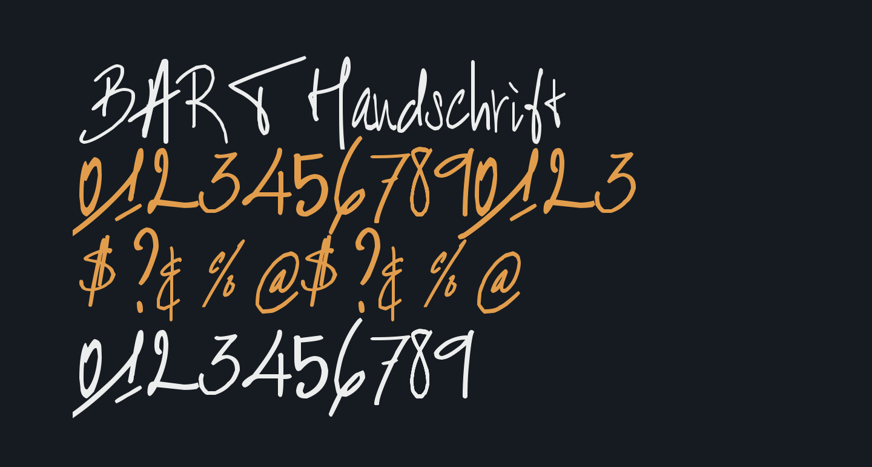 BART Handschrift