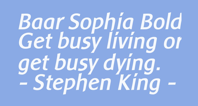 Baar Sophia BoldItalic